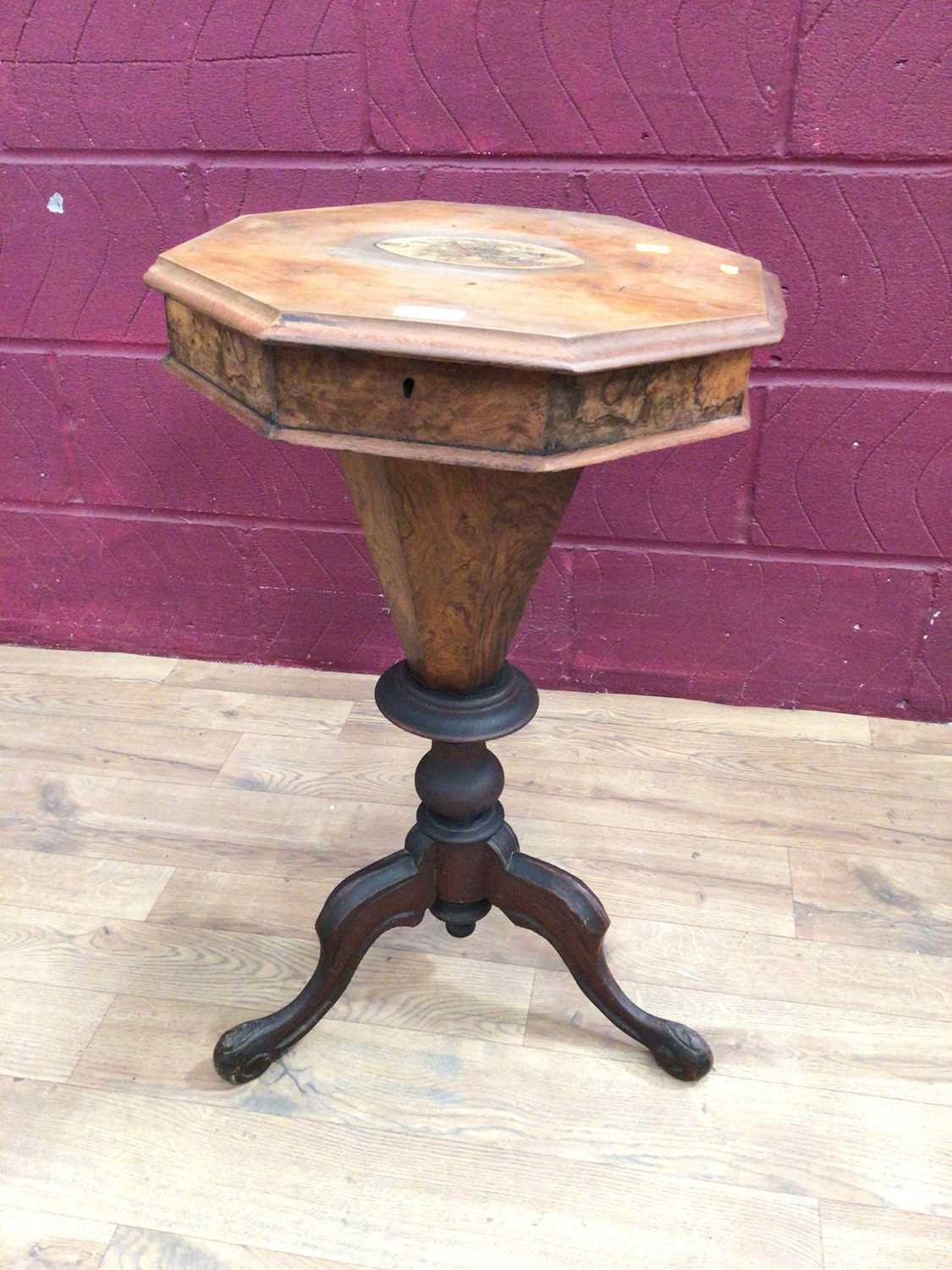 Victorian sewing table on tripod base