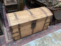 19th century Continental domed trunk