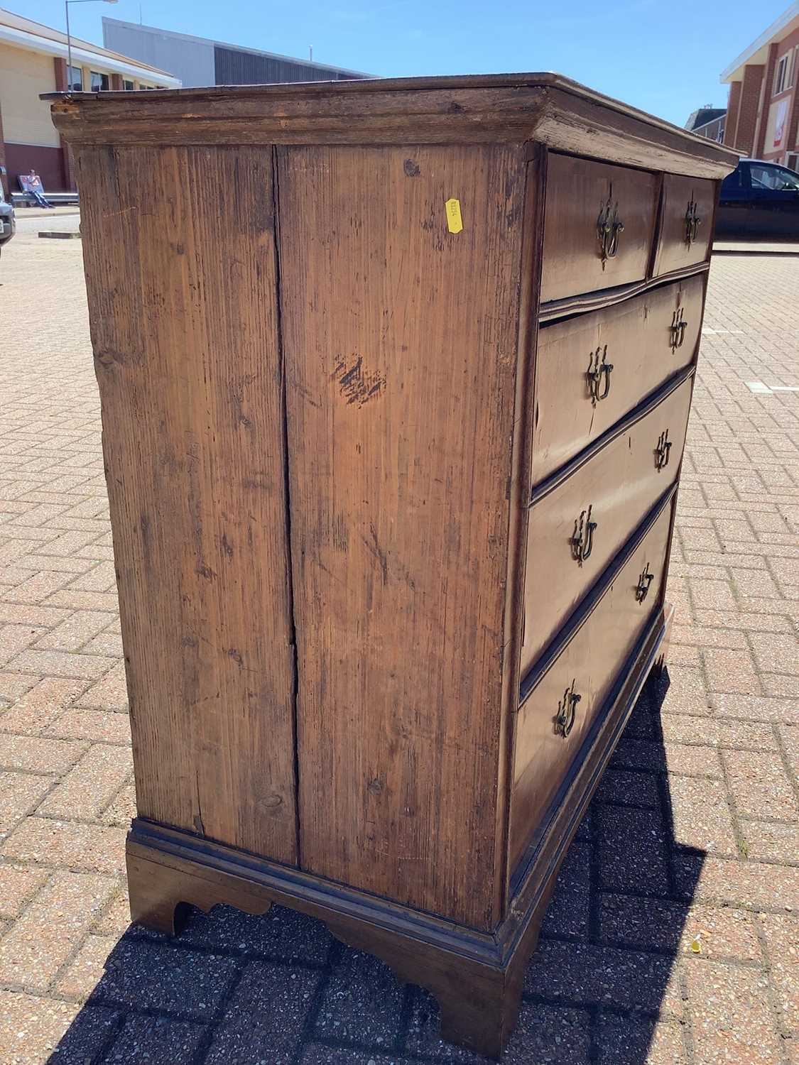 19th century Continental walnut chest of drawers - Image 7 of 7