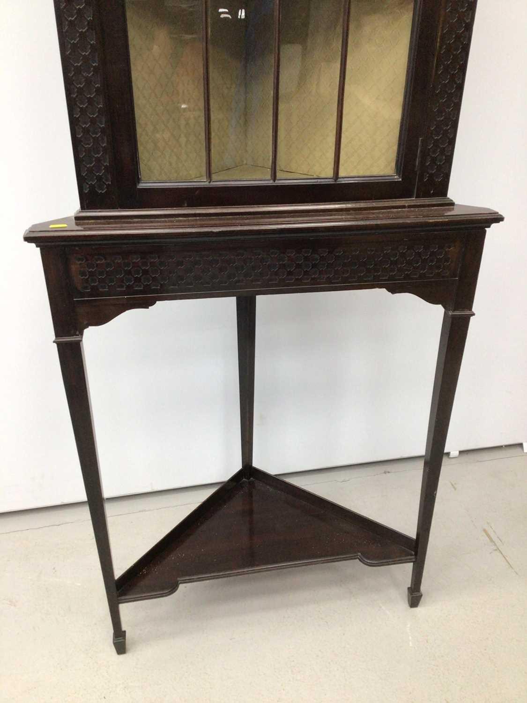Edwardian mahogany corner cupboard - Image 3 of 3