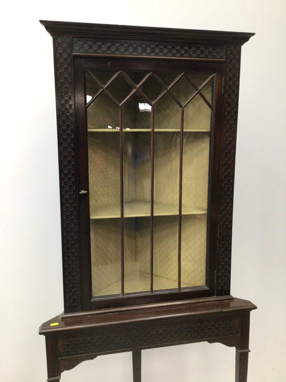Edwardian mahogany corner cupboard - Image 2 of 3