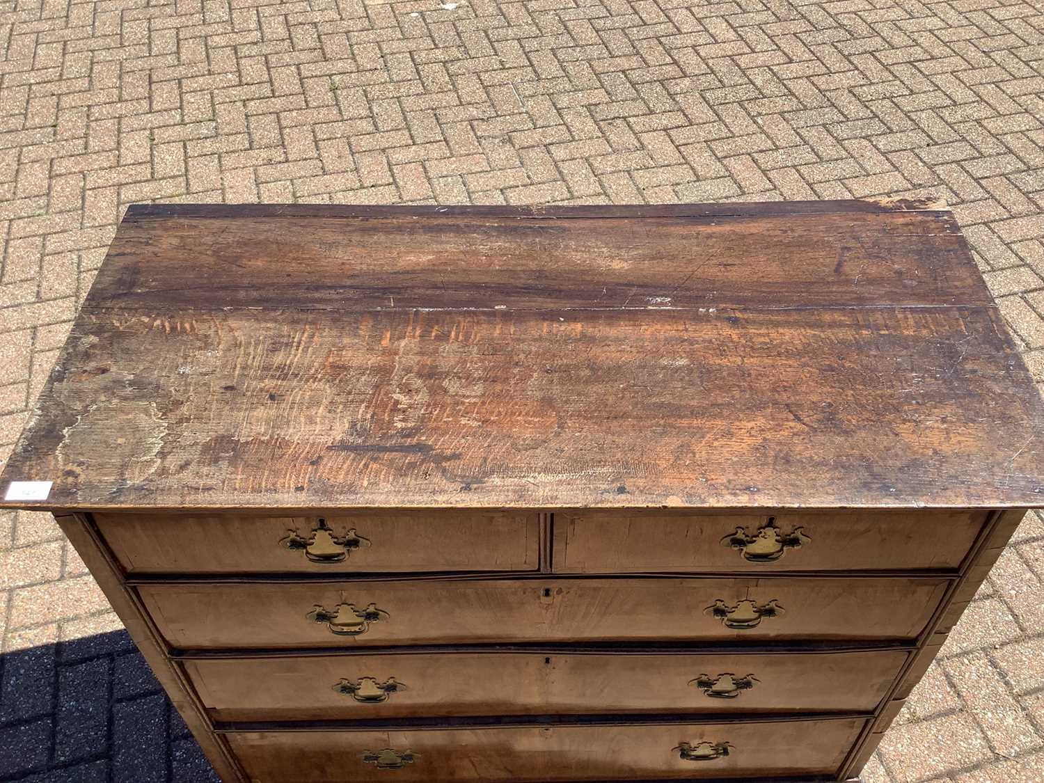 19th century Continental walnut chest of drawers - Image 3 of 7
