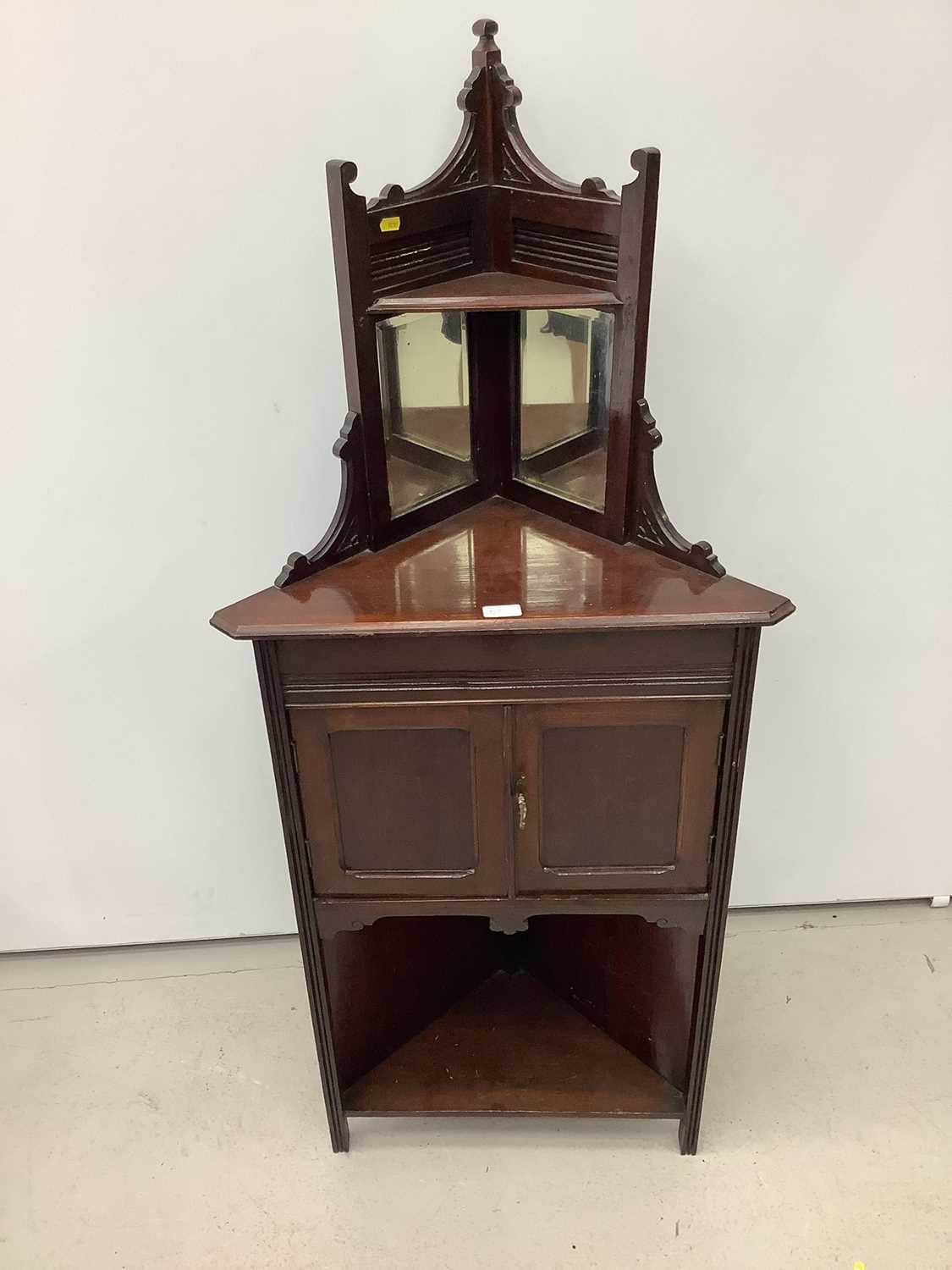 Unusual ercol ladder back elbow chair and an Edwardian corner cupboard - Image 7 of 9