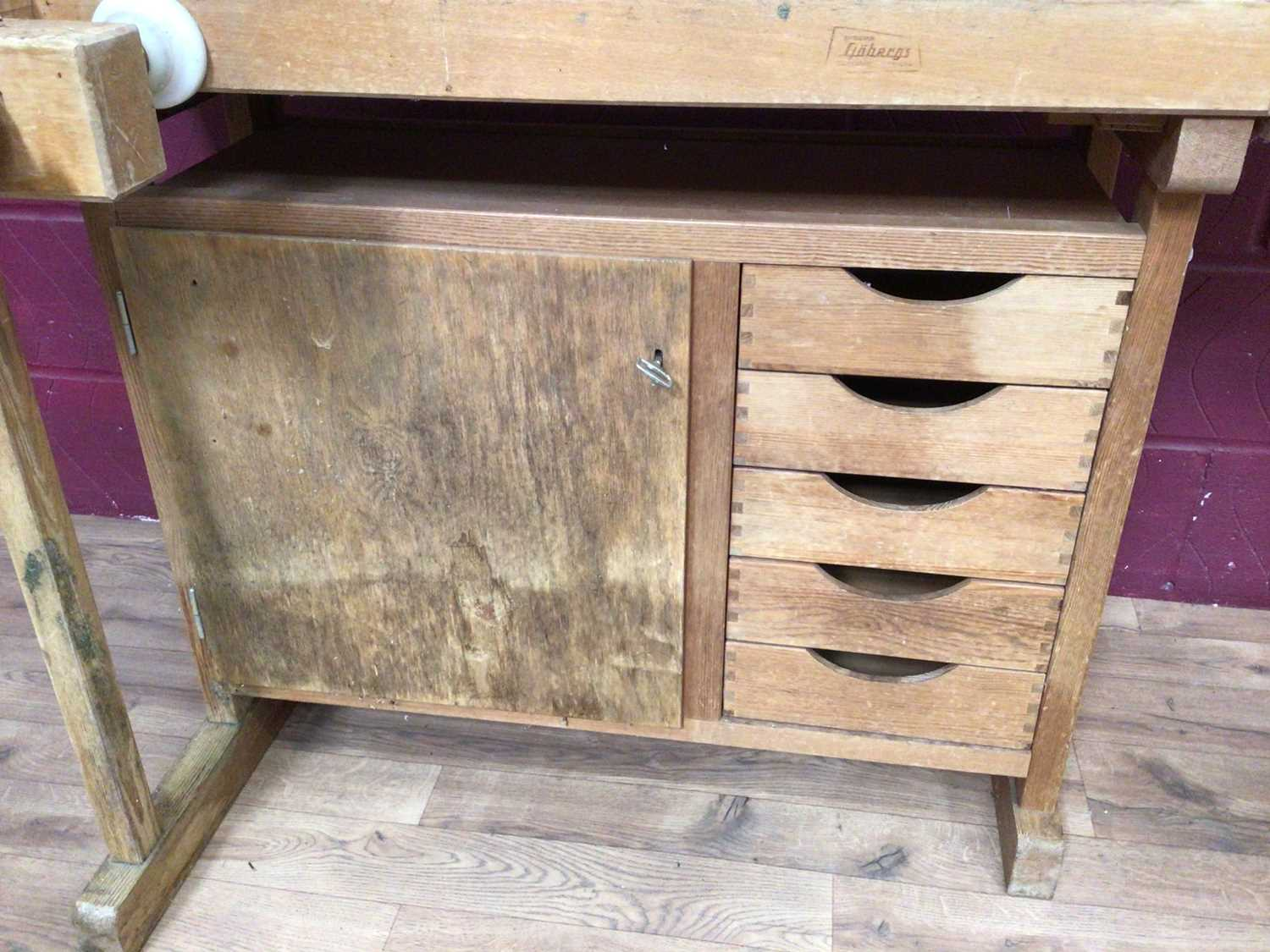Scandanavian work bench by Gobergs of Sweden - Image 4 of 8