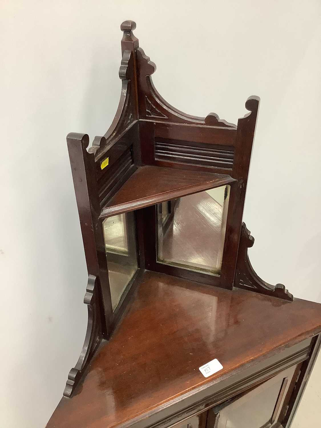 Unusual ercol ladder back elbow chair and an Edwardian corner cupboard - Image 4 of 9
