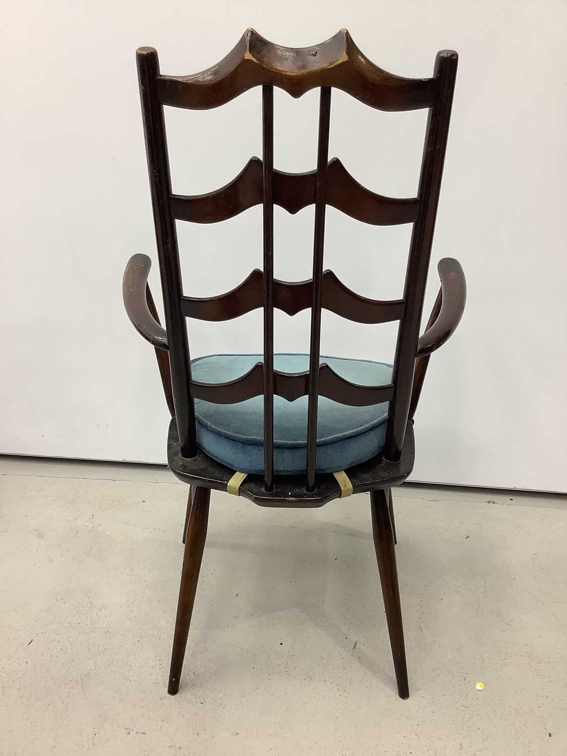 Unusual ercol ladder back elbow chair and an Edwardian corner cupboard - Image 3 of 9