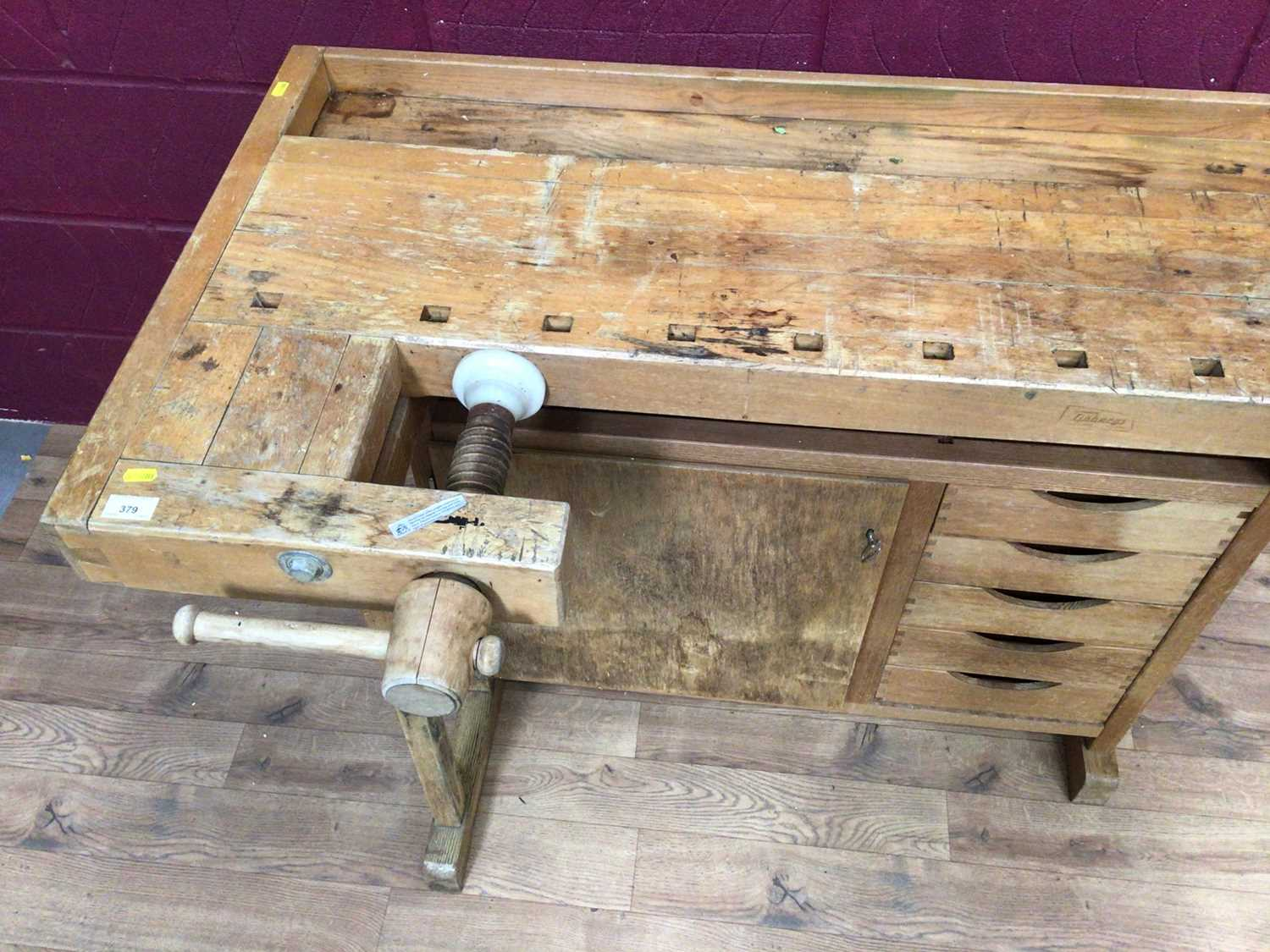 Scandanavian work bench by Gobergs of Sweden - Image 8 of 8