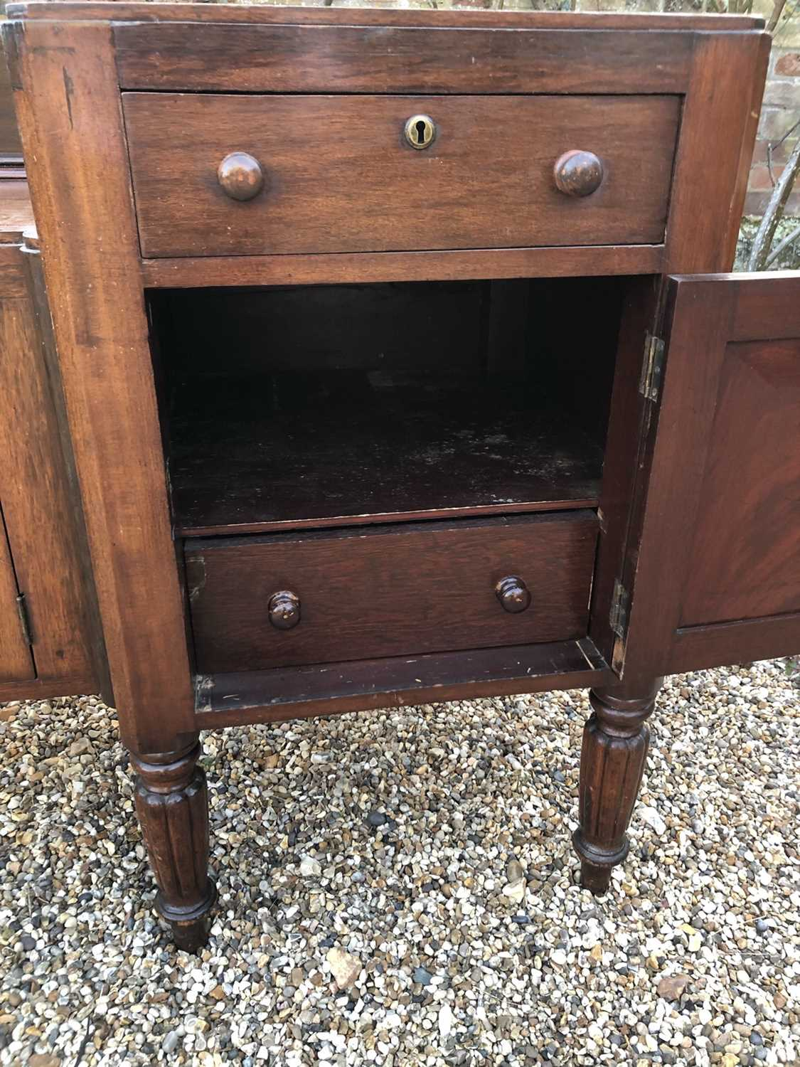 William IV mahogany sideboard with sunk centre and an arrangement of two drawers and four cupboards, - Image 6 of 8