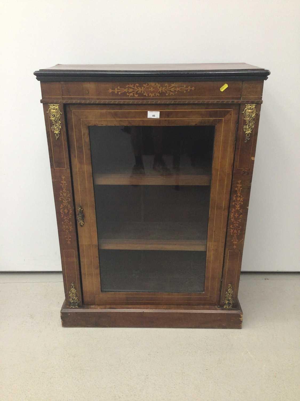 Victorian walnut and inlaid pier cabinet