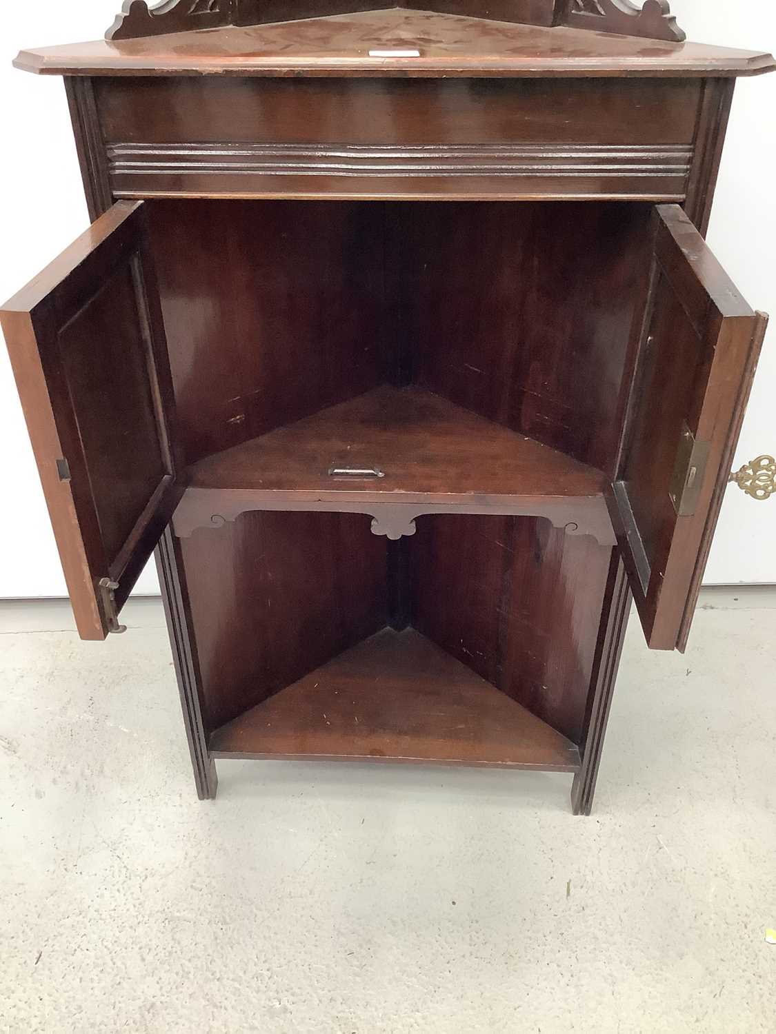 Unusual ercol ladder back elbow chair and an Edwardian corner cupboard - Image 5 of 9