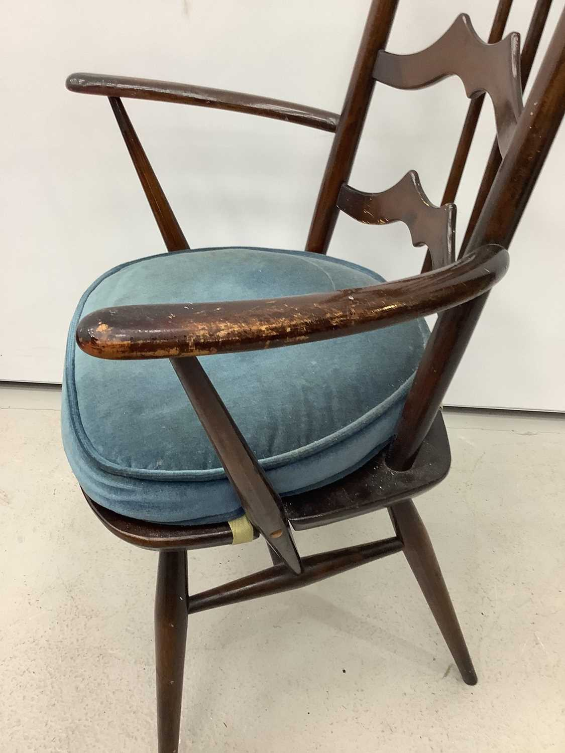 Unusual ercol ladder back elbow chair and an Edwardian corner cupboard - Image 8 of 9