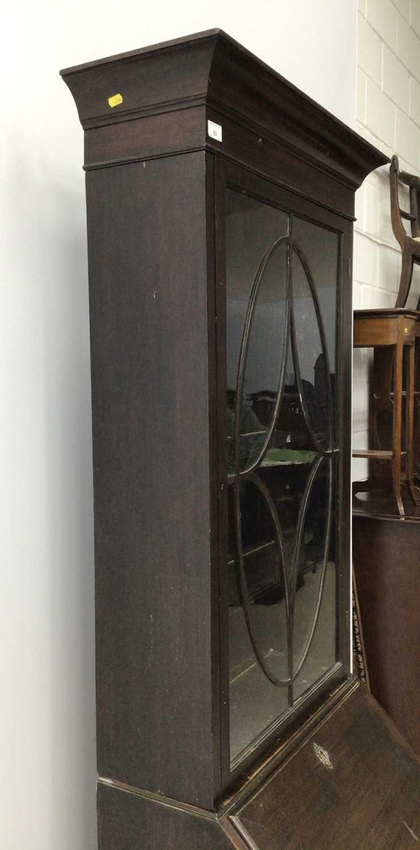 Mahogany bureau bookcase, 18th century with alterations - Image 5 of 8