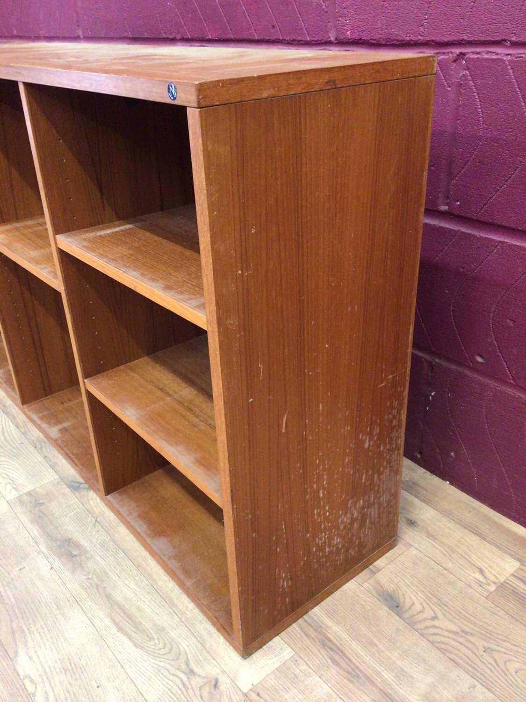 Mid 20th century Danish Nipu teak open bookcase - Image 4 of 5