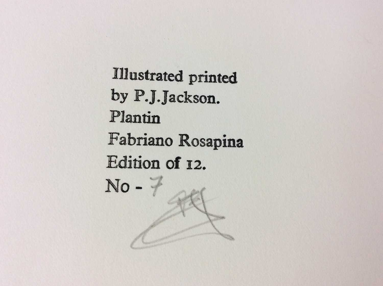 P. J. Jackson - three very limited edition private publications - Image 11 of 11