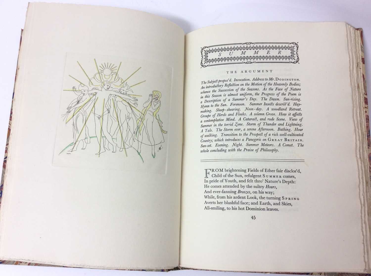 The Seasons by James Thomson, Nonesuch Press 1927, numbered 186 out of 1,500 copies, 1927 - Image 6 of 10