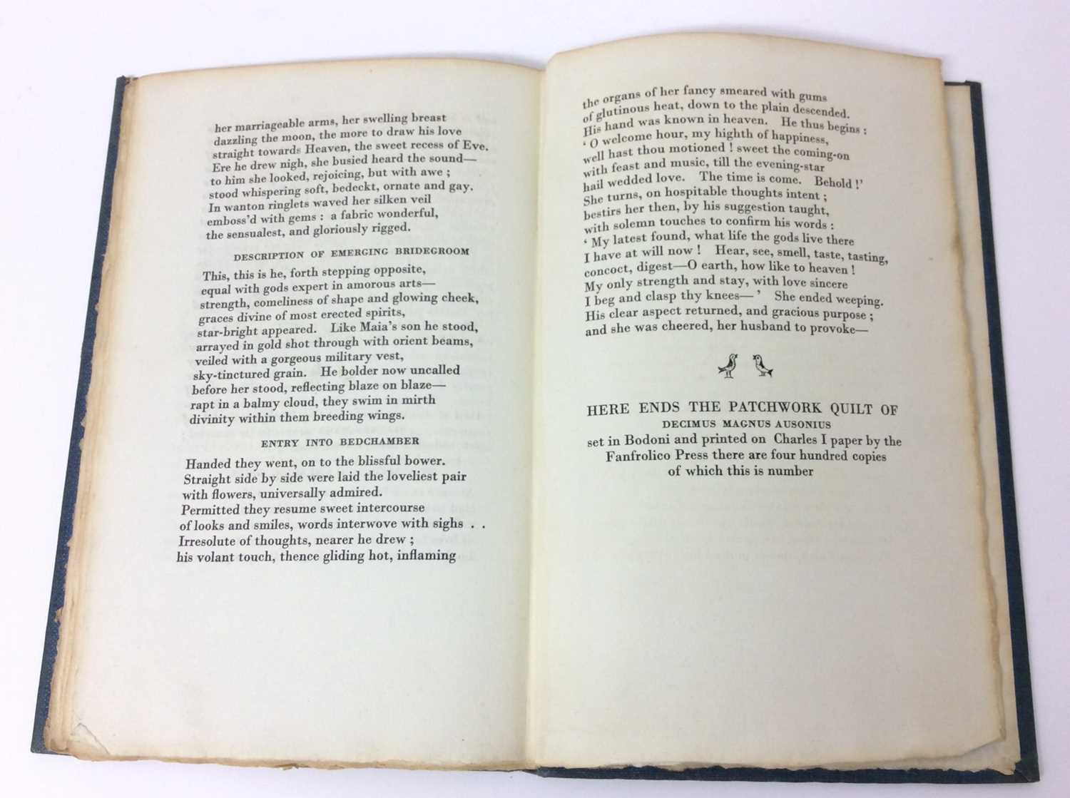 Patchwork Quilt. Poems by Decimus Magnus Ausonius, with illustrations by Edward Bawden, Franfrolico - Image 7 of 7