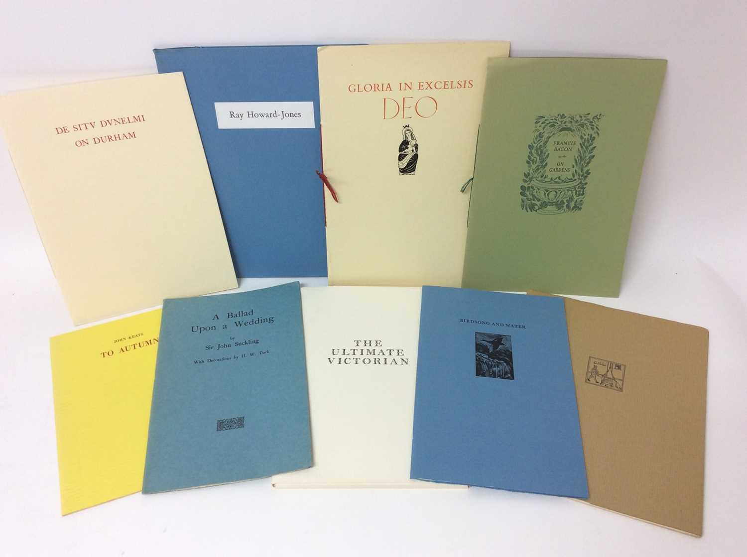 A bundle of private press booklets