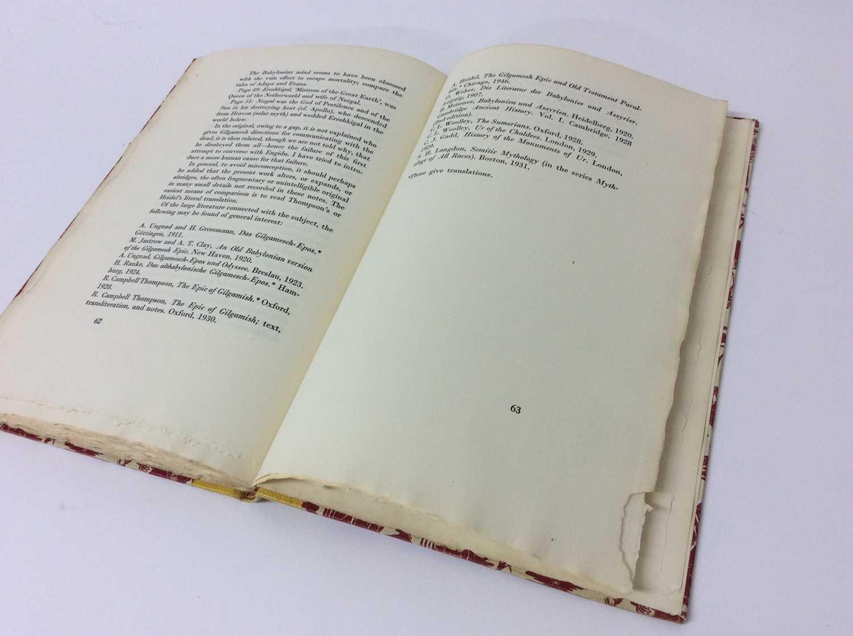 """F. L. Lucas: """"Gilgamesh, King of Erech"""", published Golden Cockerel Press 1948 - Image 8 of 9"""