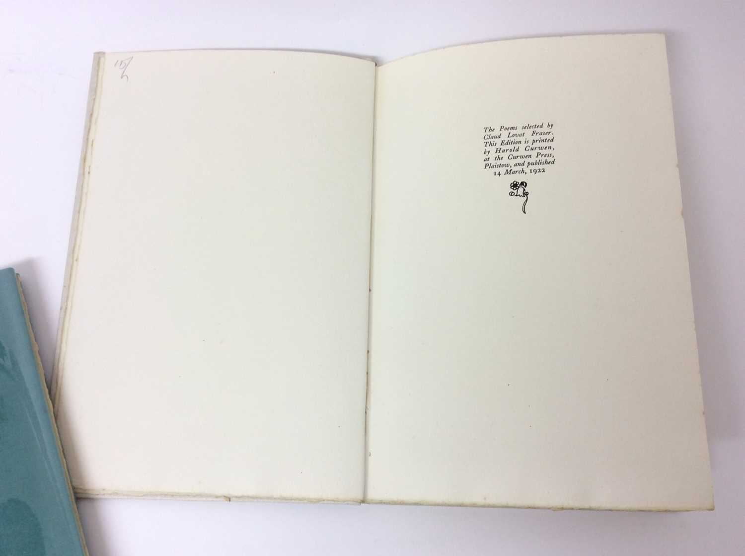 Evelyn Ansell - Twenty Five Poems, also Poems from the Works of Charles Cotton, illustrated by Claud - Image 9 of 13