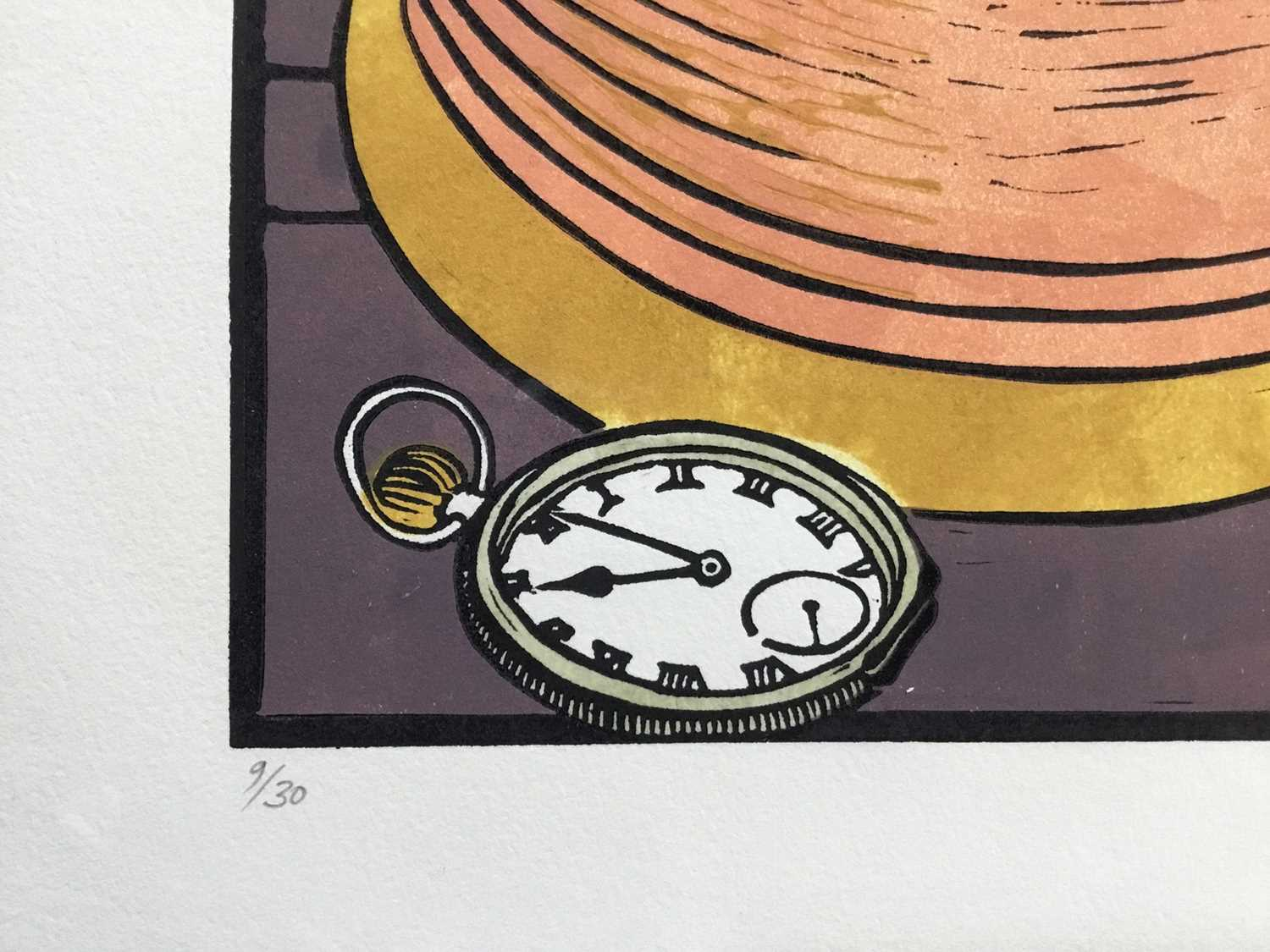 Penny Berry Paterson (1941-2021) coloured linocut print, Night Passage, signed and numbered 1/30, 33 - Image 4 of 4