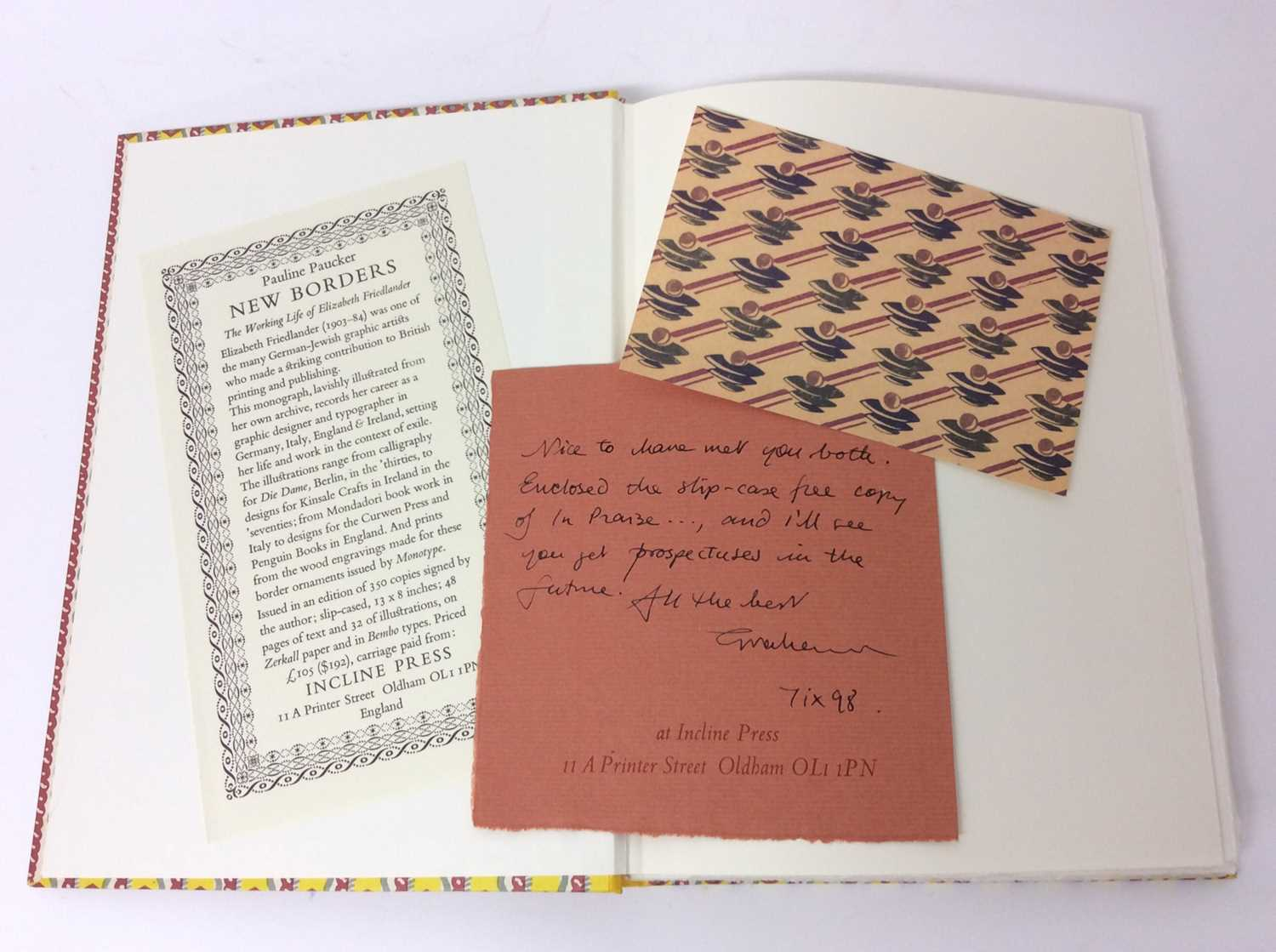 In Praise of Patterned Papers, Incline Press, 200/300 - Image 2 of 12