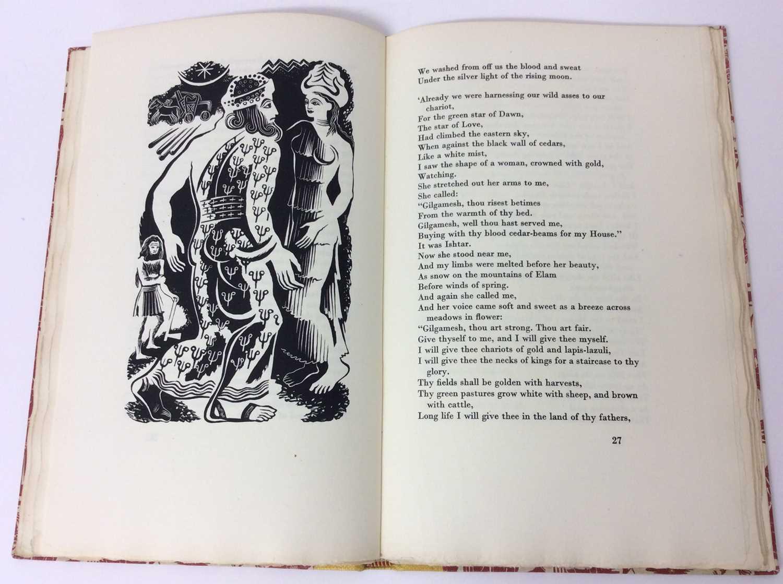 """F. L. Lucas: """"Gilgamesh, King of Erech"""", published Golden Cockerel Press 1948 - Image 6 of 9"""