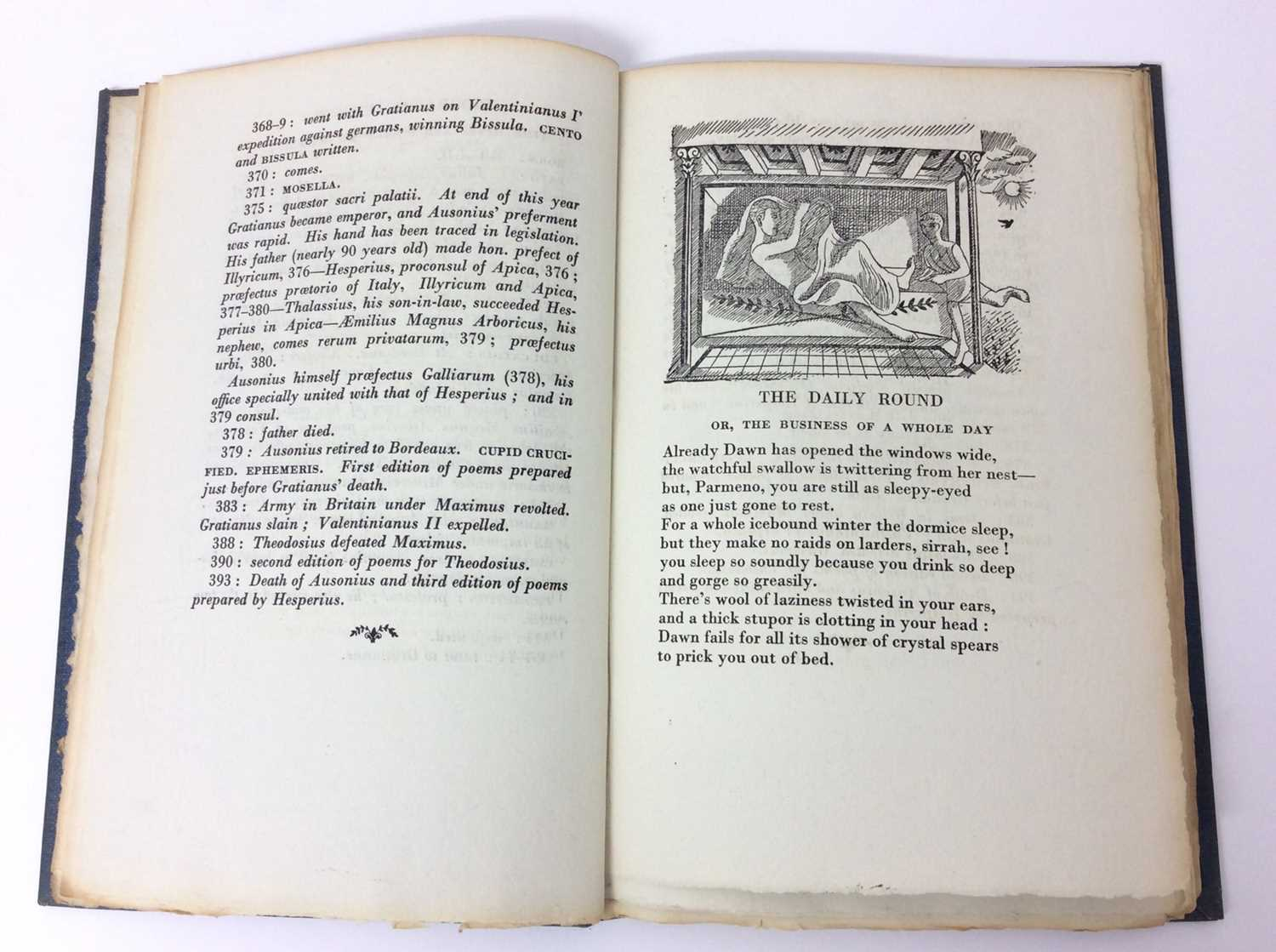 Patchwork Quilt. Poems by Decimus Magnus Ausonius, with illustrations by Edward Bawden, Franfrolico - Image 4 of 7