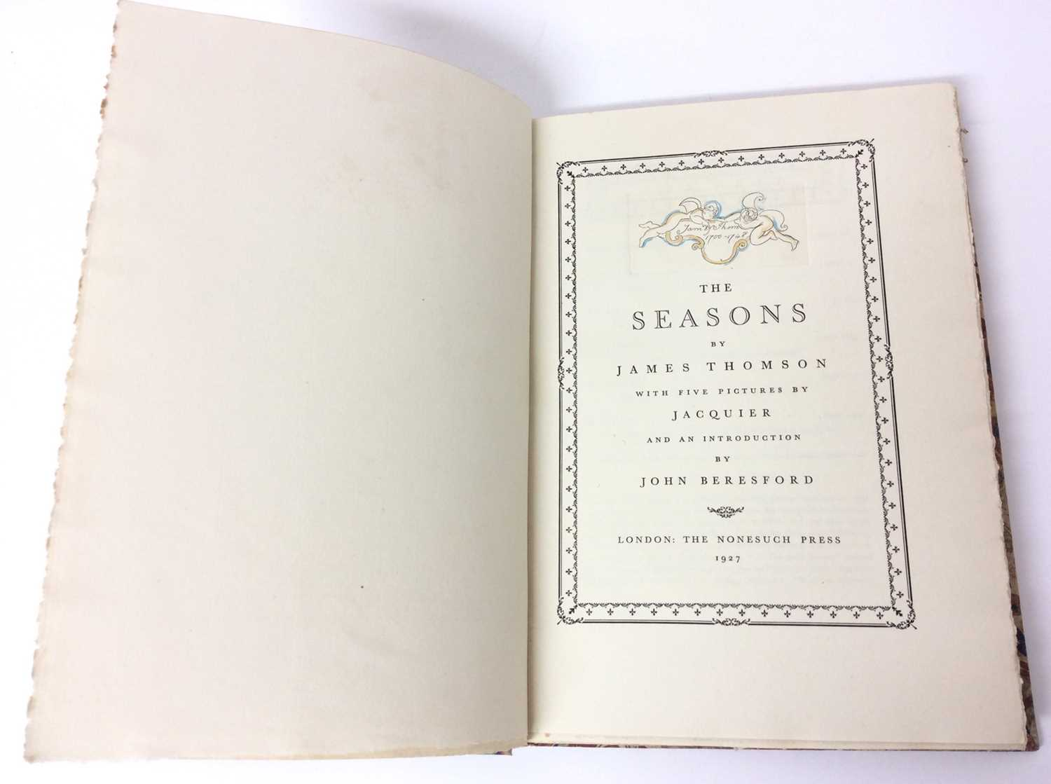 The Seasons by James Thomson, Nonesuch Press 1927, numbered 186 out of 1,500 copies, 1927 - Image 2 of 10