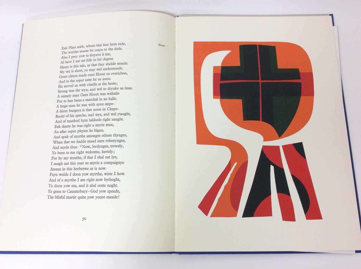 Geoffrey Chaucer and Ronald King (British b.1932) - The Prologue, From the Canterbury Tales - Image 7 of 8