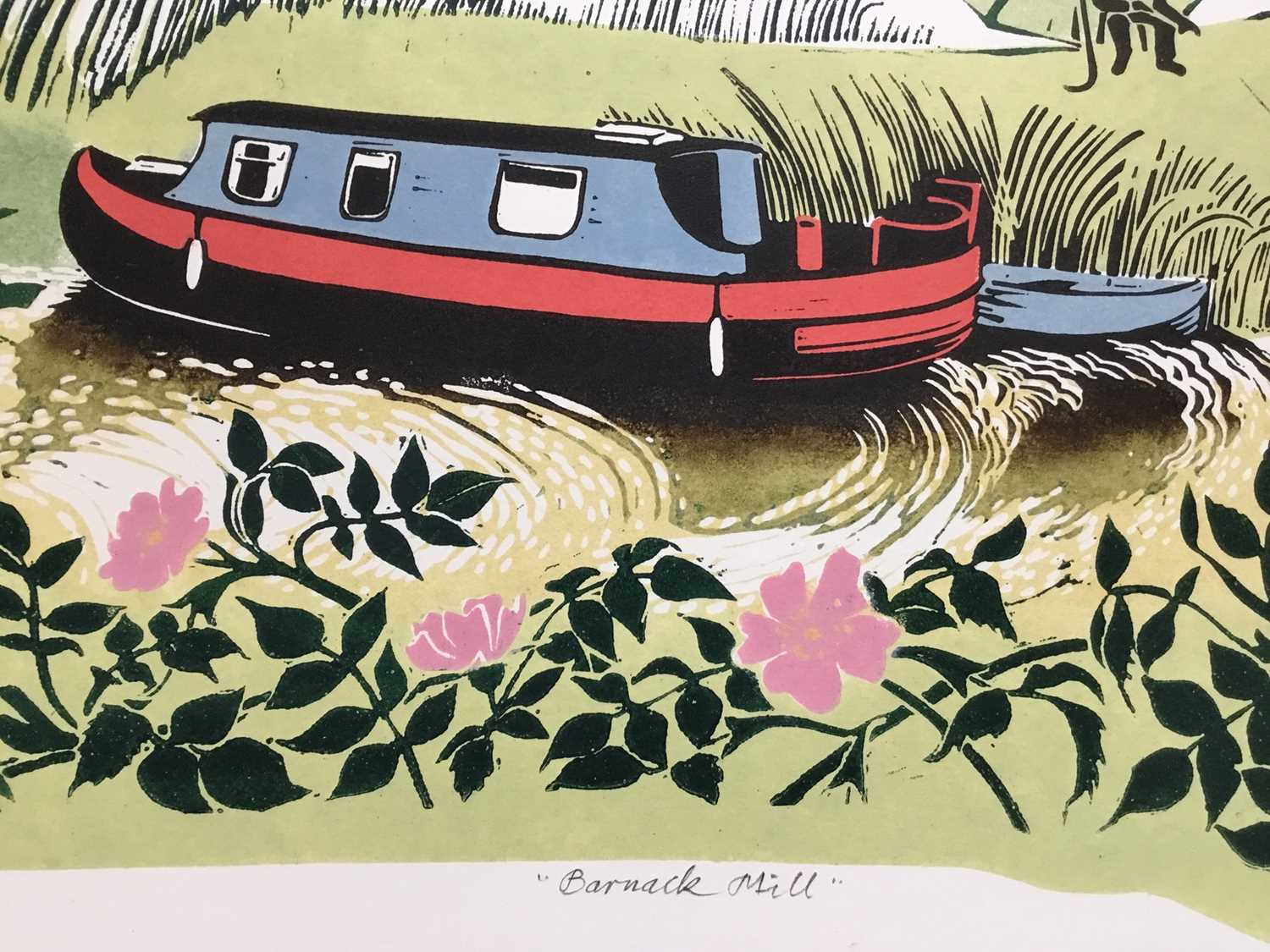 Penny Berry Paterson (1941-2021) colour woodcut print, Barnack Mill, signed titled and numbered 17/2 - Image 3 of 4