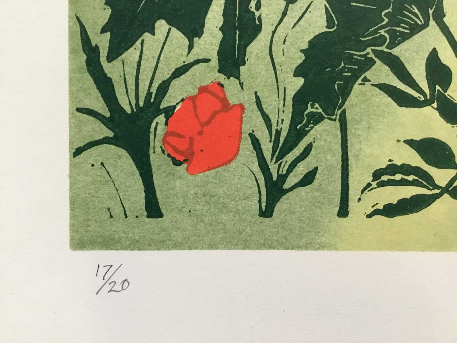 Penny Berry Paterson (1941-2021) colour woodcut print, Barnack Mill, signed titled and numbered 17/2 - Image 2 of 4