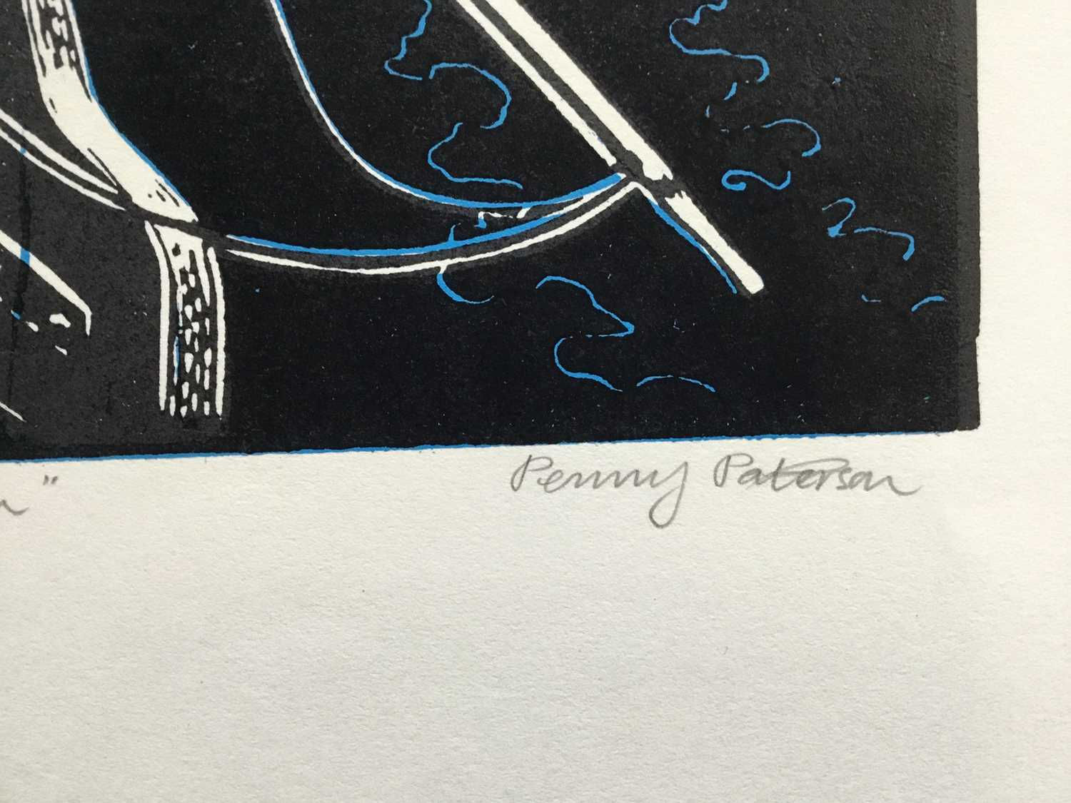 Penny Berry Paterson (1941-2021) colour linocut print, Marriages Raven, signed and numbered 30/30, 4 - Image 2 of 3