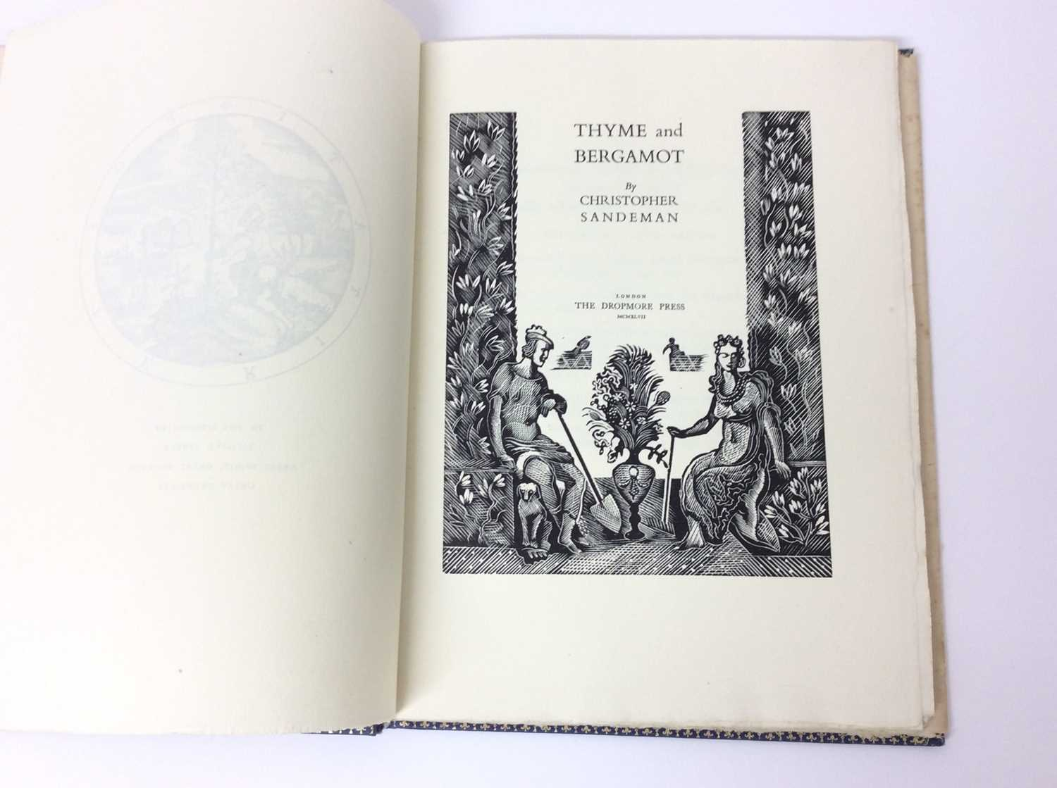 Christopher Sandeman - Thyme and Bergamot, illustrated by John O'Connor, Dropmore Press, 1947, numbe - Image 5 of 10