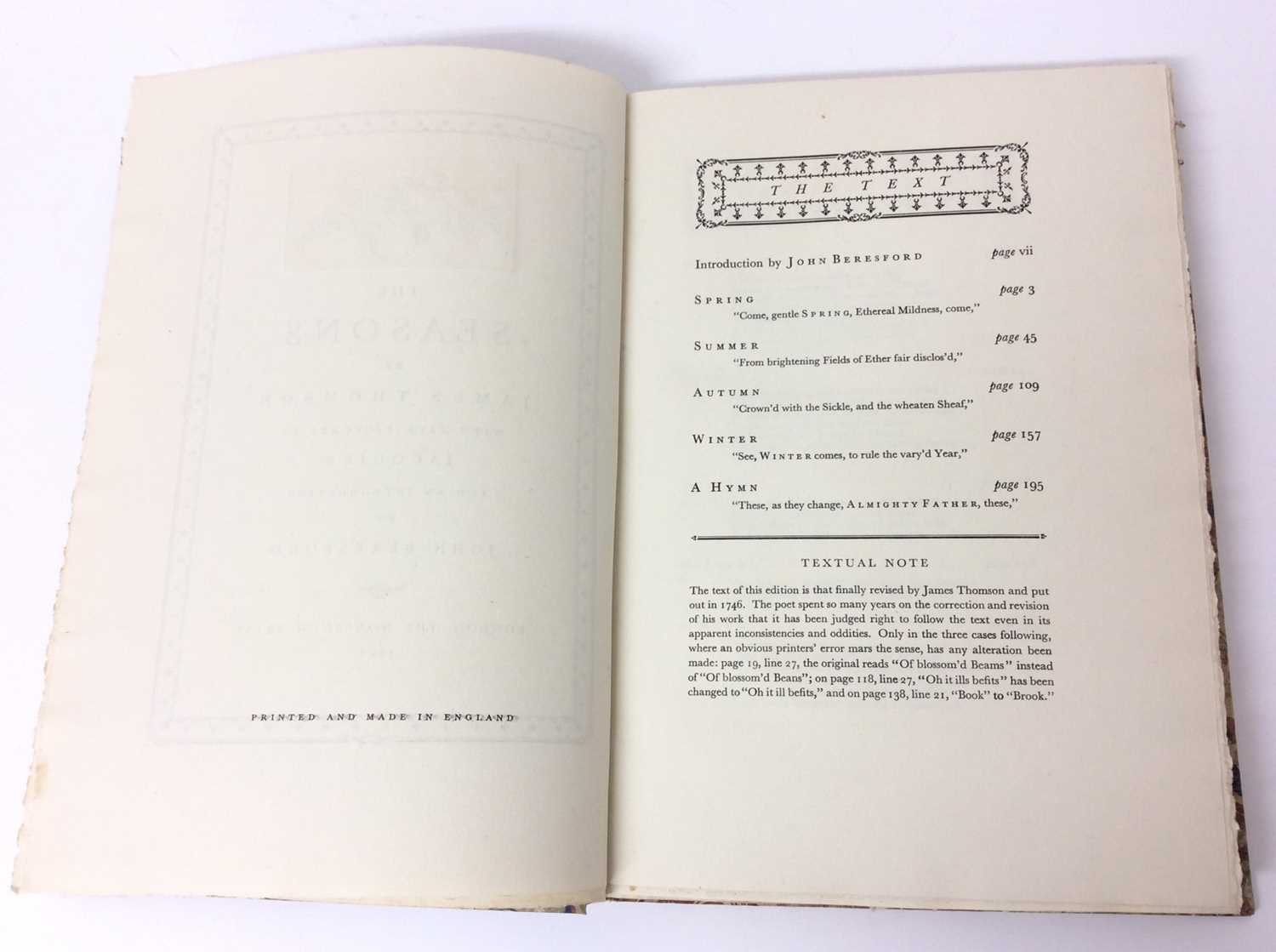 The Seasons by James Thomson, Nonesuch Press 1927, numbered 186 out of 1,500 copies, 1927 - Image 3 of 10