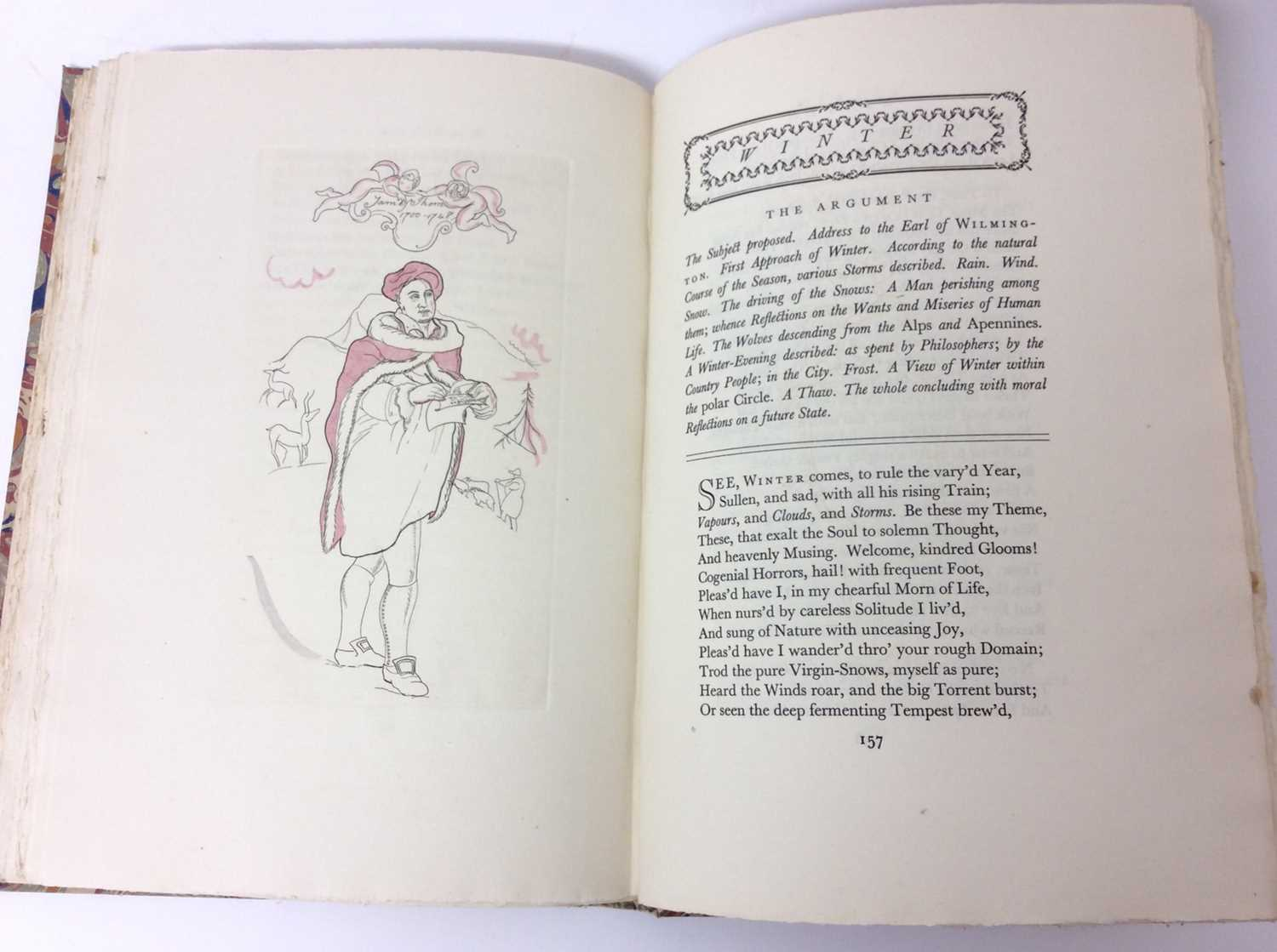 The Seasons by James Thomson, Nonesuch Press 1927, numbered 186 out of 1,500 copies, 1927 - Image 8 of 10
