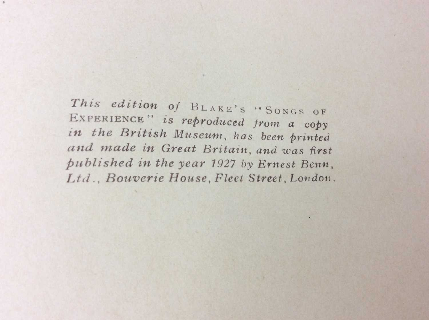 William Blake - Songs of Experience, Songs of Innocence, together with Mr Kilburn's Calicos - Image 5 of 15