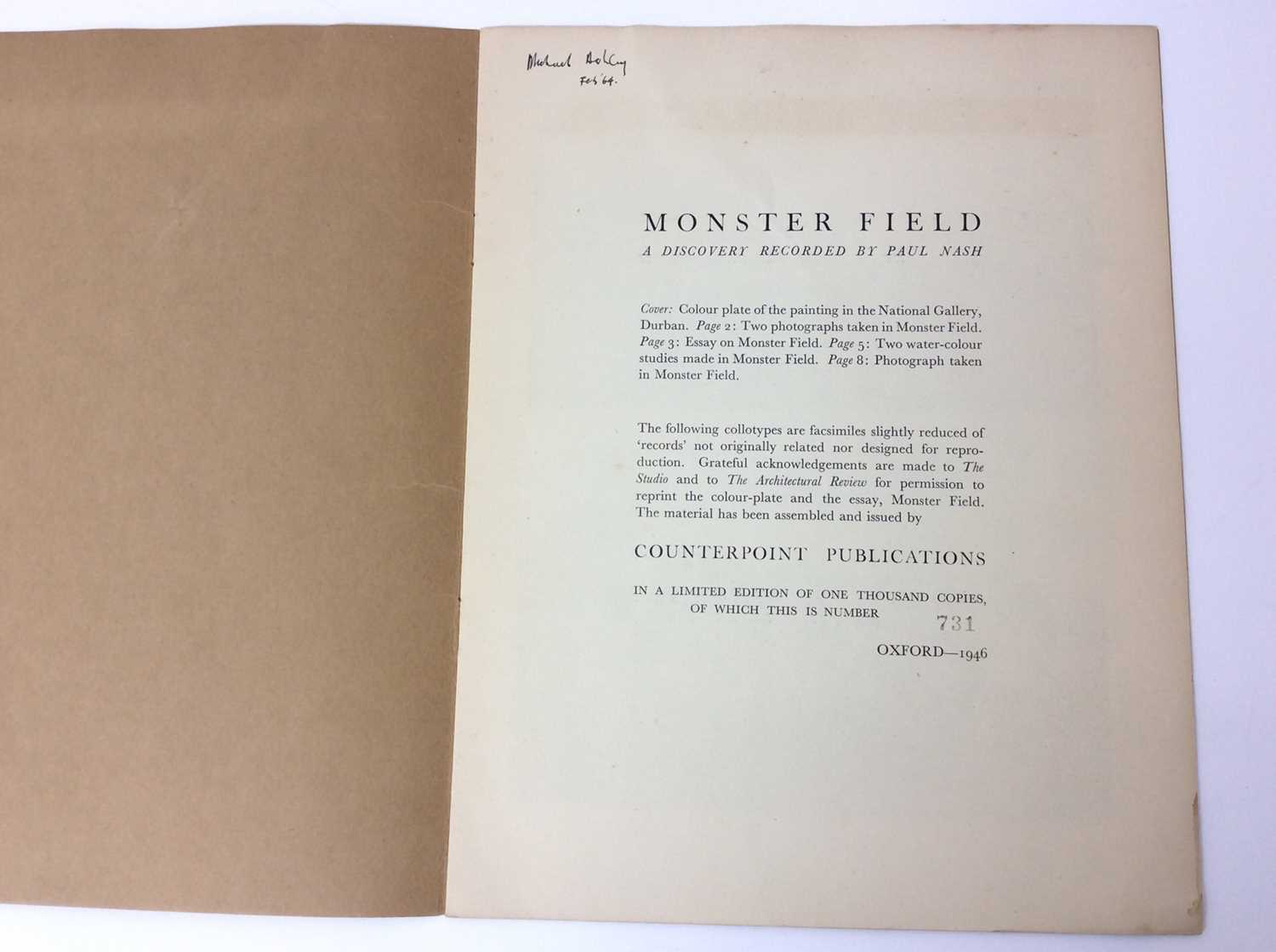 Paul Nash, Monster Field, limited to an edition of 1000, together with Aerial Flowers - Image 2 of 11