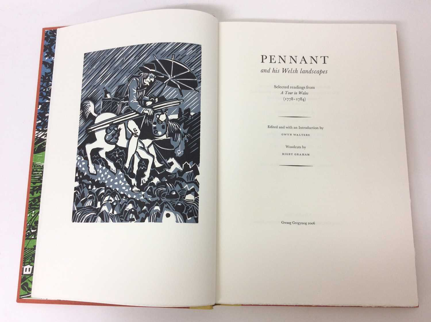 Pennant and His Welsh Landscape with woodcuts by Rigby Graham by Gregynog Press 2006, limited editio - Image 4 of 9