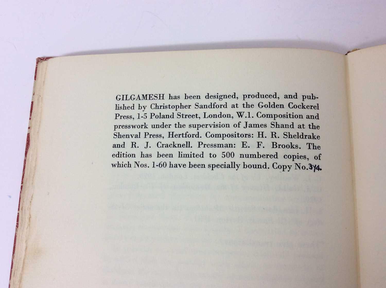 """F. L. Lucas: """"Gilgamesh, King of Erech"""", published Golden Cockerel Press 1948 - Image 9 of 9"""