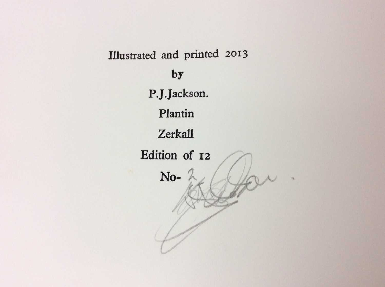 P. J. Jackson - three very limited edition private publications - Image 8 of 11
