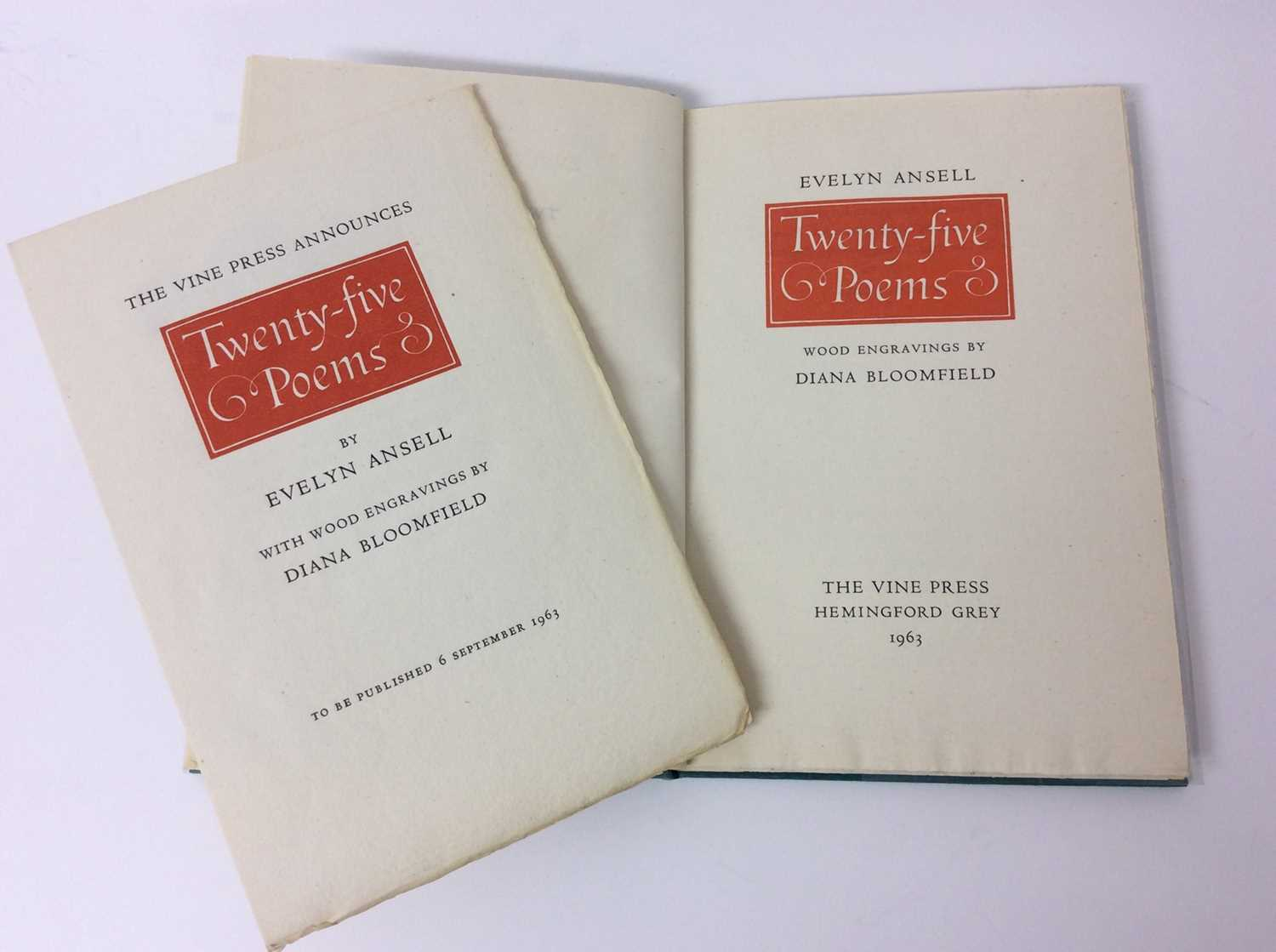 Evelyn Ansell - Twenty Five Poems, also Poems from the Works of Charles Cotton, illustrated by Claud - Image 3 of 13