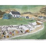 Penny Berry Paterson (1941-2021) colour linocut print, The back of Keppoch, signed and numbered 14/3