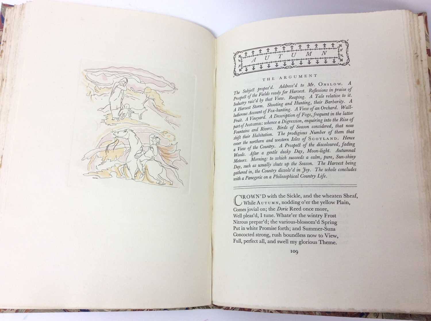 The Seasons by James Thomson, Nonesuch Press 1927, numbered 186 out of 1,500 copies, 1927 - Image 7 of 10