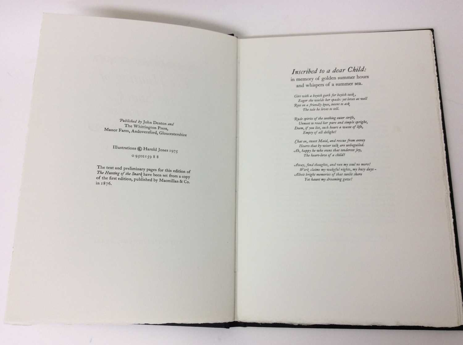 Lewis Carroll - The Hunting of the Snark, Whittington Press 1975, 404/750 - Image 4 of 10