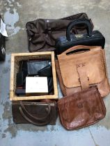 Quantity of leather bags and purses