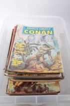 Collection of The Savage Sword of Conan The Barbarian comics (1970s -1980s), approximately 86 togeth