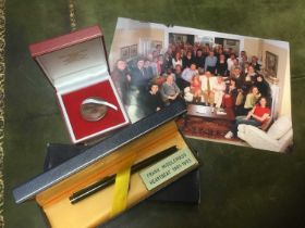 Waterman's pen gifted to cast of Heartbeat, and medallion gifted to cast of Of time goes by, photogr