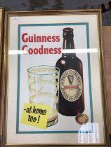 John Gilroy for Guinness, original advertising poster 'Guinness Goodness', mounted in glazed frame,