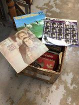 Collection of records, Beatles, Beach Boys etc