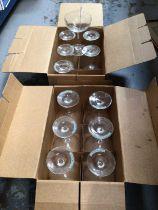 Twelve Babycham glasses in original boxes (12)